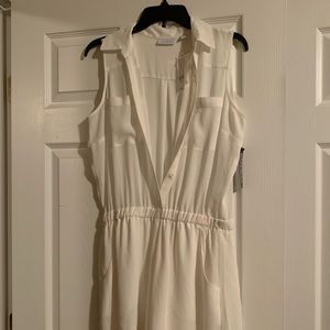 New York & Company White Romper